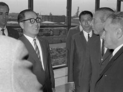 Visita del embajador de Ecuador a la Unidad Universitaria, 1964