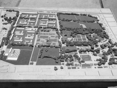 Maqueta de contexto de la primera etapa de la Unidad Universitaria, 1958