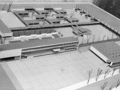 Maqueta de la primera etapa de la Unidad Universitaria, 1958