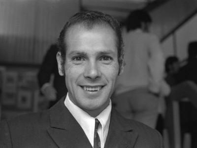 José Ramírez Allende, funcionario de la UTE y destacado seleccionado de atletismo en representación del plantel universitario. Fecha estimada, 1974.