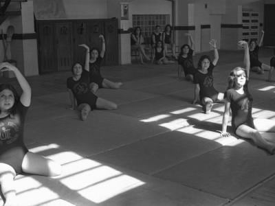 Entrenamiento de gimnasia, 1974.