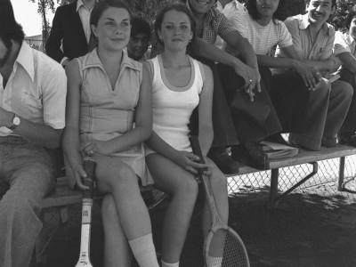 Exhibición de tenis femenino en las celebraciones del día nacional del deporte, 1974.