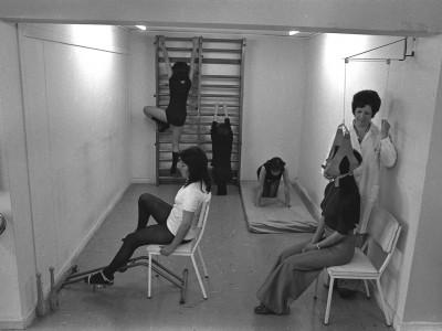 Rutina médica a gimnastas, 1974.
