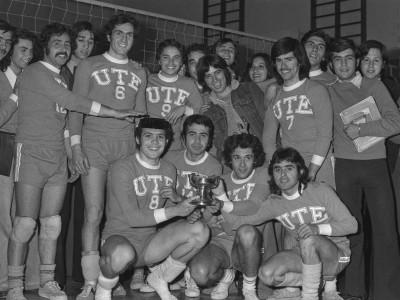 Final de vóleibol, Copa Rectoría. Fecha desconocida.