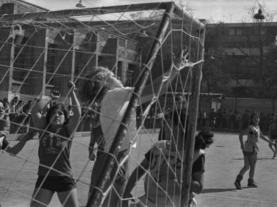 Actividades deportivas en la semana mechona, 1975.