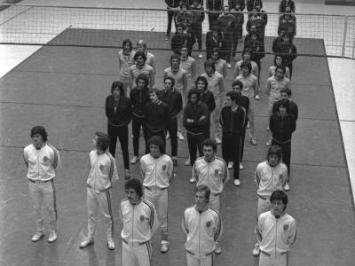 Torneo militar universitario de vóleibol, Estadio Chile. Fecha desconocida.