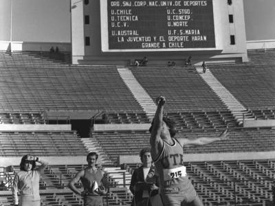 Torneo universitario de atletismo, Trofeo Arturo Prat Chacón. Fecha estimada desconocida.