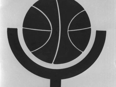 Logo del equipo de básquetbol femenino. Fecha desconocida.