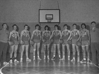 Selección masculina de básquetbol UTE. Fecha desconocida.