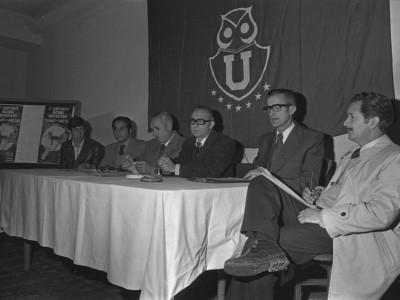 Reunión de la Confederación Deportiva Universitaria por el 5° Campeonato Nacional Universitario de Tenis de Mesa. 1977.
