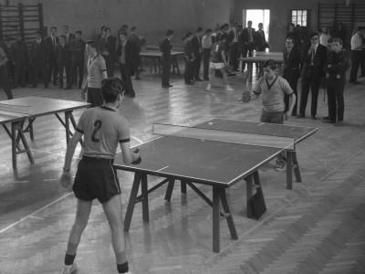 Torneo de tenis de mesa. 1° Olimpiada Universitaria UTE. 1965.