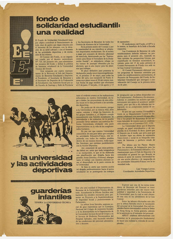 Revista Unitécnica, año 1 N°2, 1970.