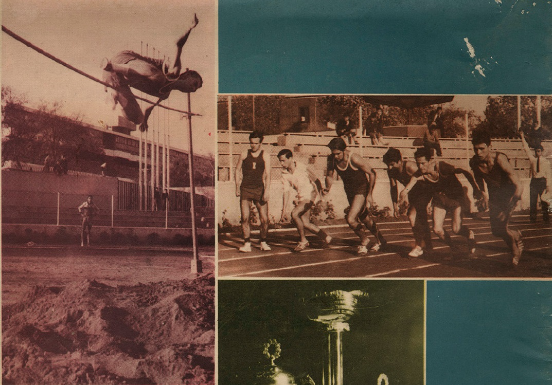 Olimpiadas de aniversario Escuela de Ingenieros Industriales. Gaceta-UTE año 1965 N° 13-14-15. En el marco de los 25 años de aniversario de la Escuela de Ingenieros Industriales se realizaron competencias deportivas entre la UTE, Universidad de Chile y Universidad Católica.