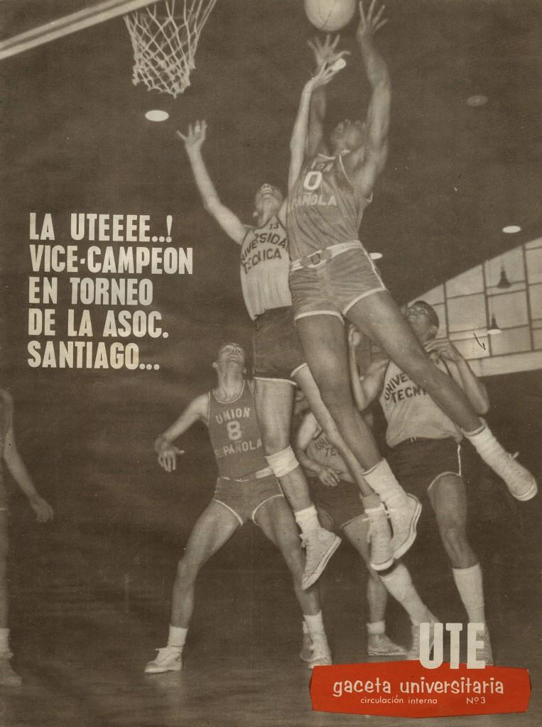 UTE vice-campeón del torneo de la Asociación de Básquetbol de Santiago, 1965.