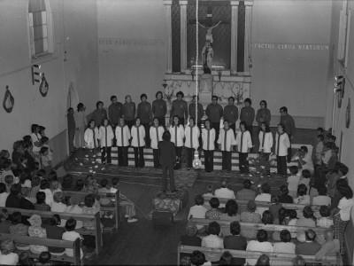 Coro UTE de gira por La Serena. 1974.