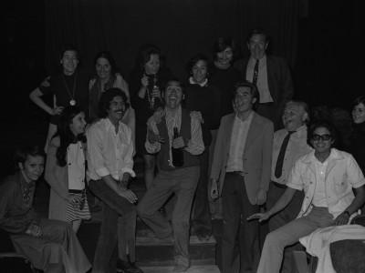 Elenco del Teatro Teknos en la Sala Camilo Henríquez. 1974.