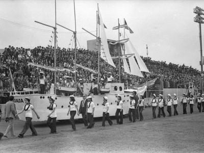 Homenaje a la Armada de Chile. Fecha estimada 1975.