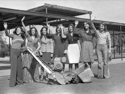Candidatas a Reina Mechona. 1975.