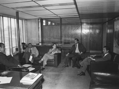 Reunión de autoridades universitarias con Jorge Ehlers. Fecha desconocida.