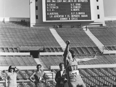 Torneo universitario de atletismo, Trofeo Arturo Prat Chacón. Fecha desconocida.