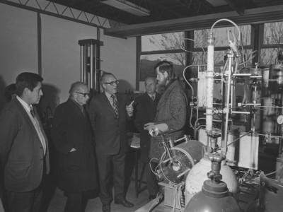 Visita de David Moushine, Director Instituto Weizman de Israel. 1976.
