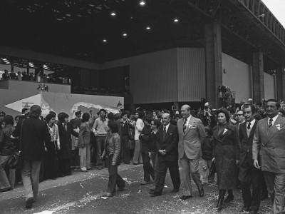 Desfile de la delegación de la Universidad Técnica del Estado. 11 de septiembre de 1976.
