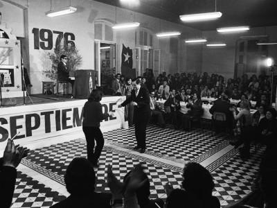 Tercer aniversario del Coronel Eugenio Reyes Tastets como Rector delegado de la Universidad Técnica del Estado. 1976.