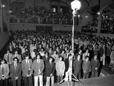 Ceremonia de graduación Escuela de Artes y Oficios. 1976.