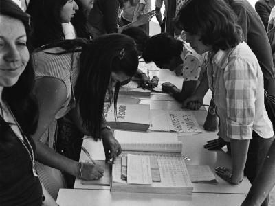 Proceso de matrícula. 1977.