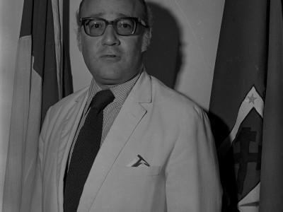 Decano de la Facultad de Estudios Generales Isidoro Vásquez de Acuña. Fecha estimada 1977.