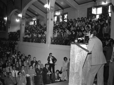Clase magistral del Ministro de Hacienda Sergio de Castro. 1977.