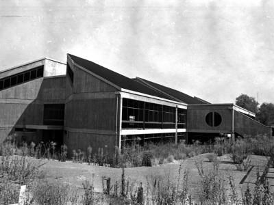 Construcción de Biblioteca Central UTE. Fecha desconocida.