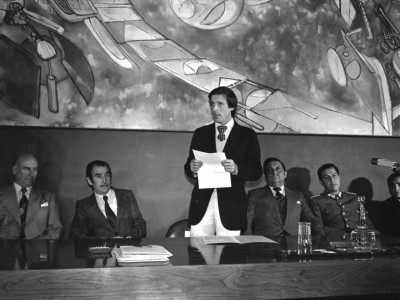 Firma Consejo Superior Estudiantil. Fecha estimada 1977.
