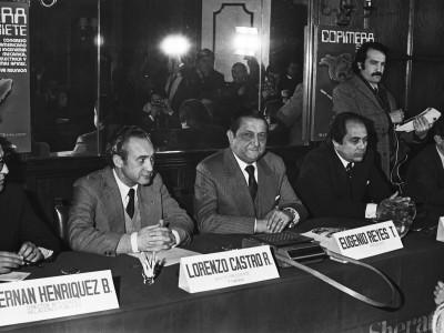 Conferencia de prensa de la 7a versión del Congreso Panamericano de Ingeniería Mecánica. 1977.