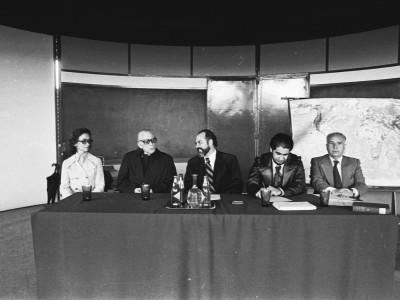 Conferencia de Arturo Aldunate Phillips, Premio Nacional de Literatura 1976. Fecha estimada 1977.