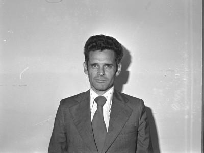 Decano de la Facultad de Ingeniería Arturo Melendez. Fecha estimada 1978.