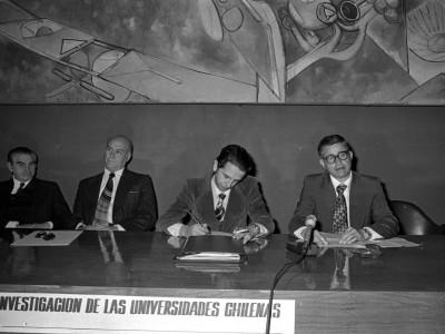 Segundo Encuentro Nacional de Investigación de las Universidades Chilenas. Fecha estimada 1978.