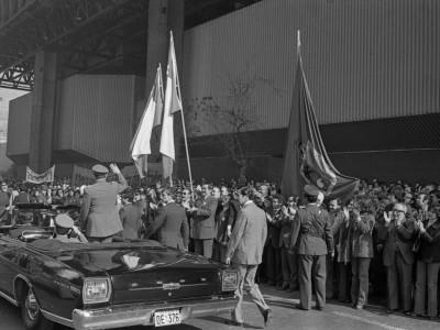 Delegación UTE en manifestación. Fecha estimada 1978.