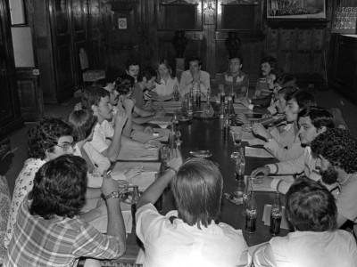 Consejo Superior Estudiantil en asamblea. Fecha desconocida.