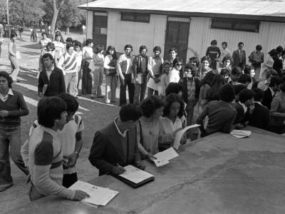 Proceso de matrícula. 1979.