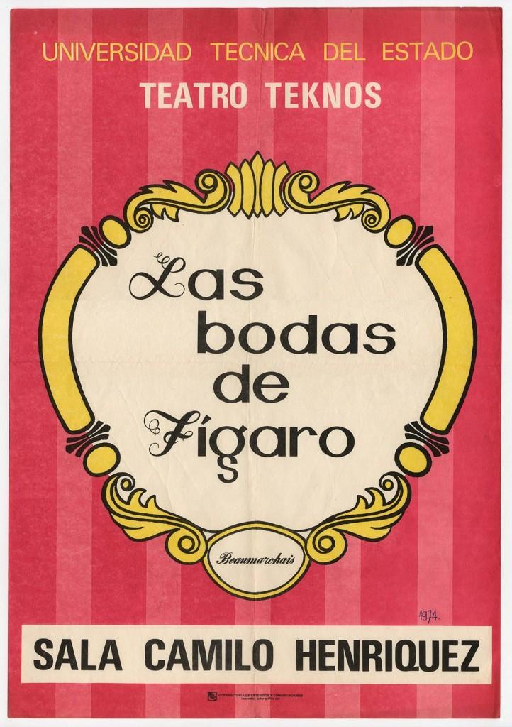 """Afiche de la obra """"Las bodas de Fígaro"""". 1974. Donación Juan Quezada."""