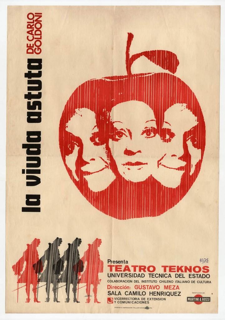"""Afiche de la obra """"La viuda astuta"""". 1975. Donación de Juan Quezada."""