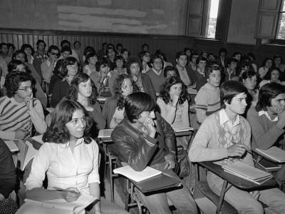 Inicio de clases en Facultad de Ingeniería. 1978.