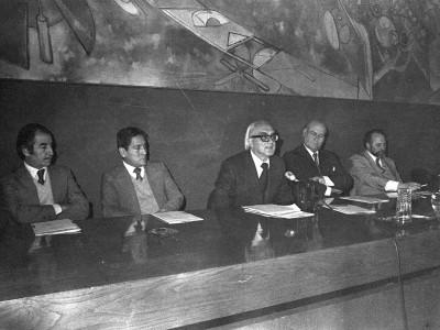 Inauguración de Escuela Nacional de Invierno. Fecha estimada 1978.
