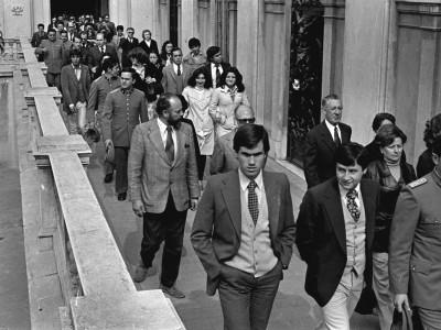 Funeral del Teniente de Ejército y funcionario de la CNI, Luis Carevic. 1979.
