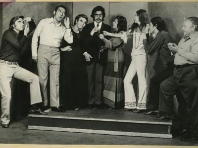 """Obra """"Homo chilensis"""" de Teatro Teknos. Sin fecha. (Donación Adriano Castillo)"""