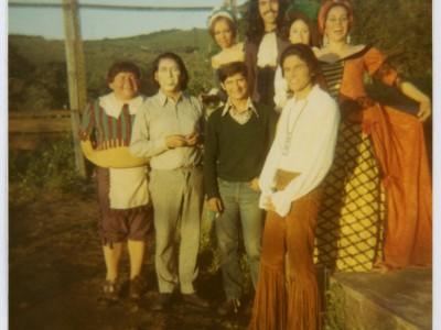 """Elenco de """"La escuela de las mujeres"""" obra del Teatro Teknos. Sin fecha. (Donación Juan Quezada)"""