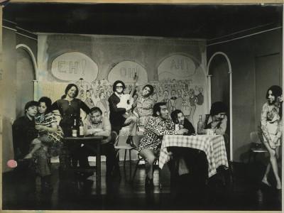 """Obra """"Homo Chilensis"""" del Teatro Teknos . Sin fecha. (Donación Adriano Castillo)"""