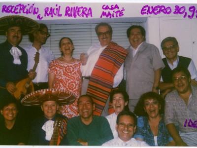 Reencuentro elenco Teknos en casa de Maité Fernández. 1991. (Donación de Juan Quezada)
