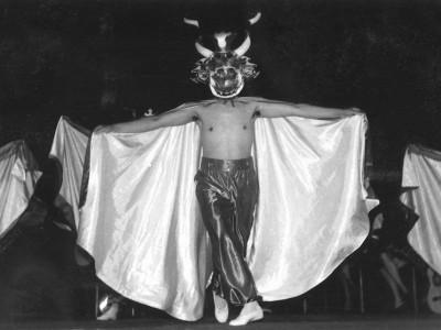 Diablada, presentación del BAFUTE. Gira por Arica y Antofagasta.1970. (Donación Omar Solís)